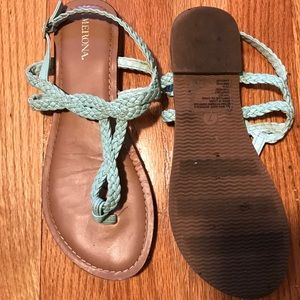 Shoes - Braided Light Blue Sandals